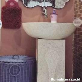 Washtafel Model Lengkung Marmer Unik