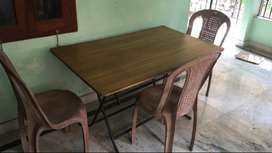 Folding Dining set - table and 3 chairs