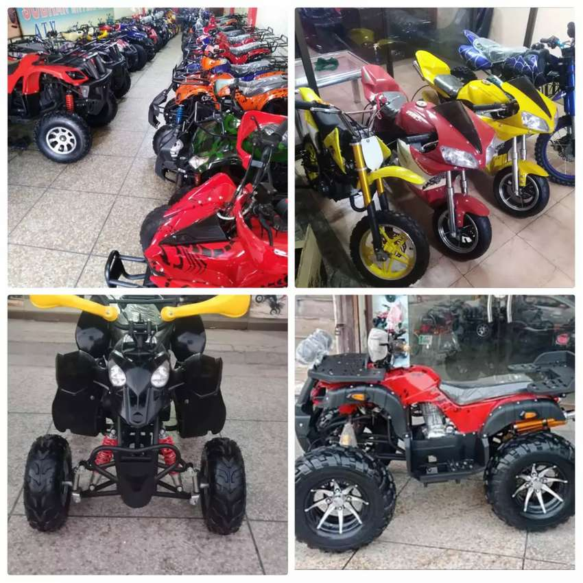 Full Variety of 2 & 4 Wheelers Sports Quad Atv Bikes 0