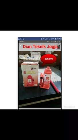 (Dian Teknik bka smp mlm) Dongkrak botol 5 ton fullset New bergaransi