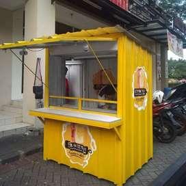 booth kontainer,grobok jualan