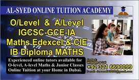 OnlineTuitions/TUTORS MATHS( IGCSE/A LEVEL ) Dubai ,QATAR