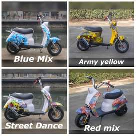 Motor Mini Scoopy Vespa Mini 50cc 2T Bensin Campur Scooter mini Bensin