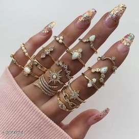 Women trendy DailyWear gold plated rings