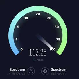 Computer hardware and internet connection 100 MBPS SPEED ka sat