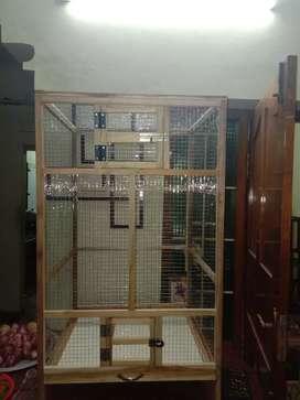 Rk Teak Wood Bird Cage & Co