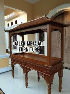 Meja solid tempat Aquarium kayu jati B122 talk