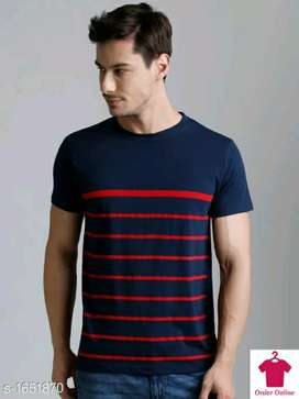 Stylish Men's Cotton Printed T-Shirts Fabric: Cotton