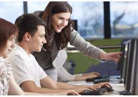 Computer operator and back office work required