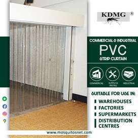 PVC Strip Transparent Curtains cum AC Curtain for Dust Protection
