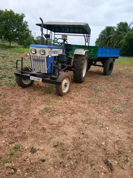 Swaraj 744 tractor & trailer for sale