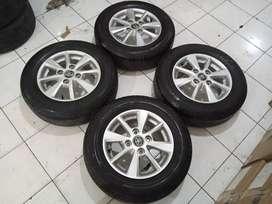 Velg seken mob New Avanza Ring 14 plus ban Bridgestone pcd 4x114