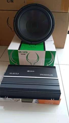Power ads 25000 plus subwoofer green bull 12in dobel coil