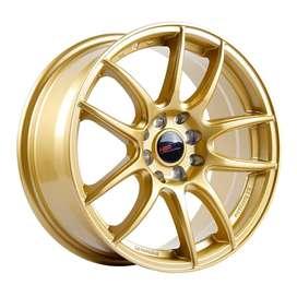 bisa kredit velg HSR-Kamikaze-988-Ring-16x7-H8x100-1143-ET38-Gold