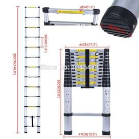 extension ladder tacticall alluminum telescopic 13 feet