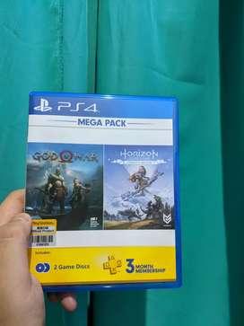 kaset God of war & horizon ps4