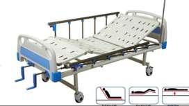 Hospital bed, table, mattress and air mattress