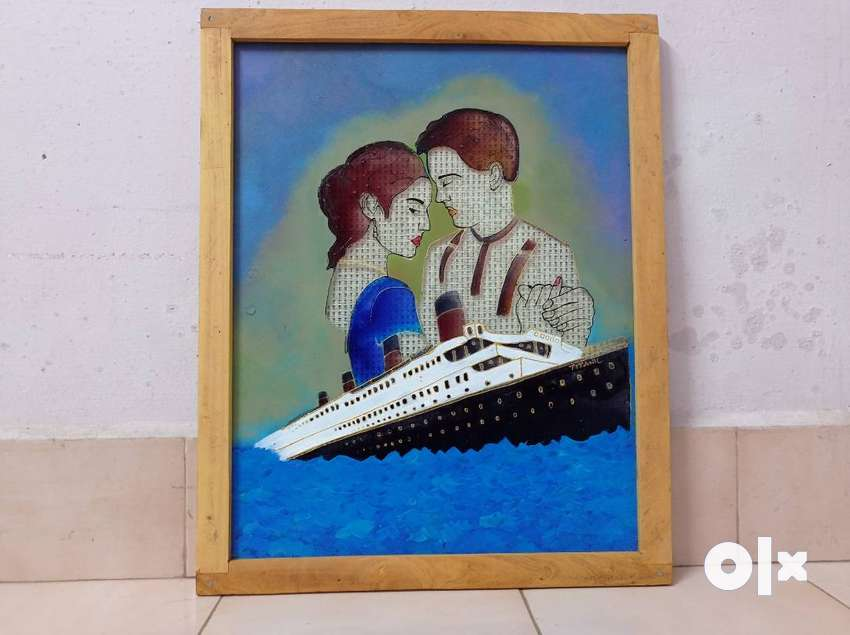 Glass painting Titanic 0