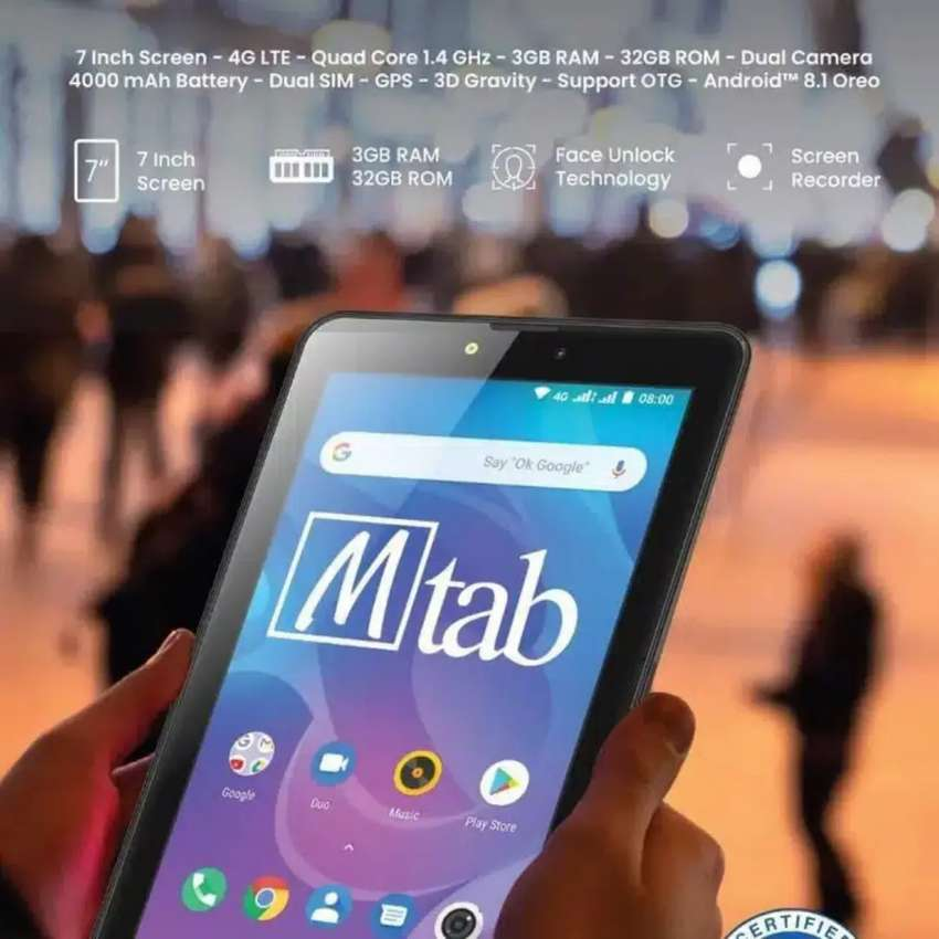 "PROMO Evercoss Mtab 3/32 7"" 4G BNIB grs resmi cod Bdg kota Free Ongkir"