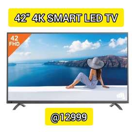 42'' 4k smart led tv// with one year warranty// @12999