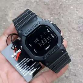 Jam tangan pria wanita water resistance hitam elegan