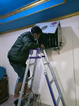 Cuci AC Service AC bongkarpasang AC mesin cuci pompa air beli AC seken