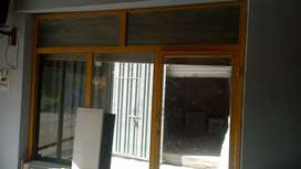 Iron office door with glass
