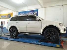 Modifikasi mobil PAJERO use velg EMR 901 R20X9 + Ban Acelera 285/50 AT