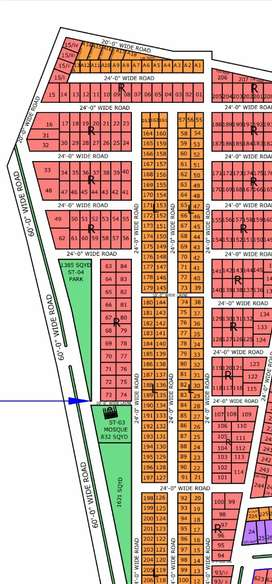 NORTH TOWN RESIDENCY PHASE 1 120 YARD READY TO CONSTRUCTION PLOT
