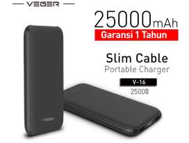 25000mAh Garansi 1 thn veger xiaomi powerbank power bank charger