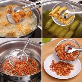 Multi-functional 2 in 1 Fry Tool Filter Spoon Strainer With Clip