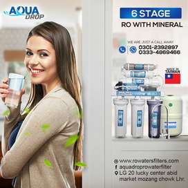 6 stage Euro-Tech Ro Water Filter plant for home Taiwan ro plant ro