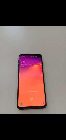 Samsung S10 White 128 gb bill box rajkot