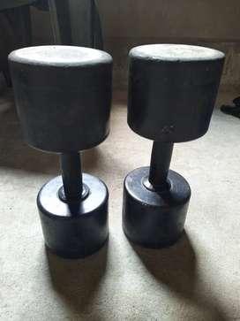 10 kg dumbbells...