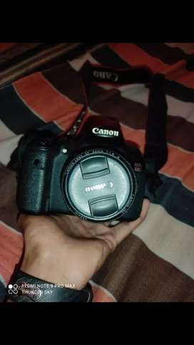 Canon 60d DSLR camera with prime lens.