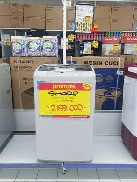 Promo kredit mesin cuci sharp 1 tabung dp mulai 0% cicilan ringan