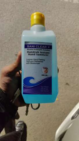 Sanitizers available in quantity