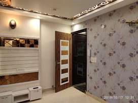 2 bhk flat in fully fall celling and beautiful wallpepars near metro