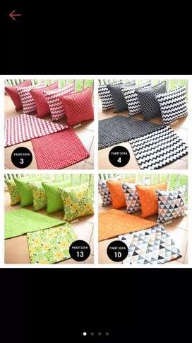 Sarung bantal sofa dan taplak meja