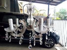 Lampu gantung kristal italy Cab 5 antik