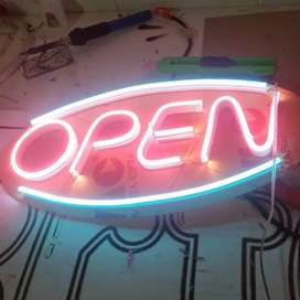 Jasa Pembuatan Display Neon Huruf. 30x15cm (OPEN).