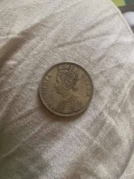 1862- One Rupee Coin of Victoria Queen