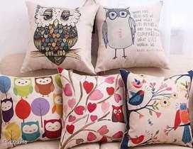 Cushion covers, decorative items, sofa set