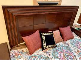 Bed set complete with dressing,selling sofa dining almari table chair
