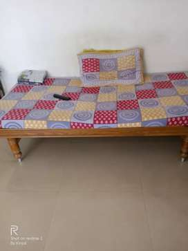 Two Single bed without mattress