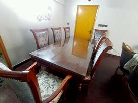 8 chair wooden dining table.