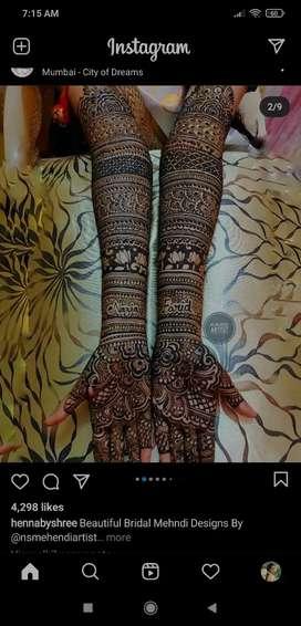 Bridal and casual Mehandi designer