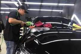 Poles nano coating ceramic motor mobil panggilan jabodetabek termurah