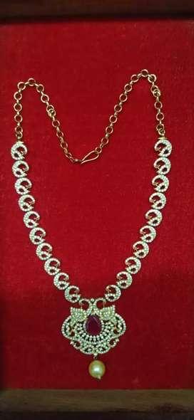 CZ stone short necklace