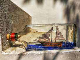 BOTTLE ART    ( ship in bottle)